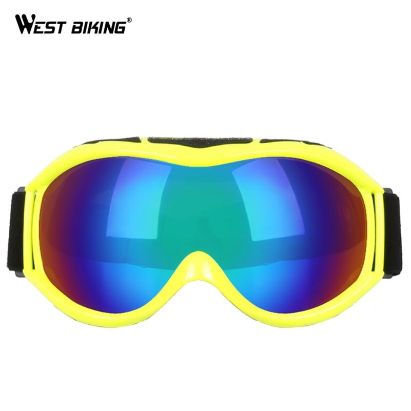 WEST BIKING Skiing Eyewear Bike Windproof Goggles Outdoor Sport Cycling Skiing Goggles Anti-fog Lens UV400 Ski Snowboard Glasses