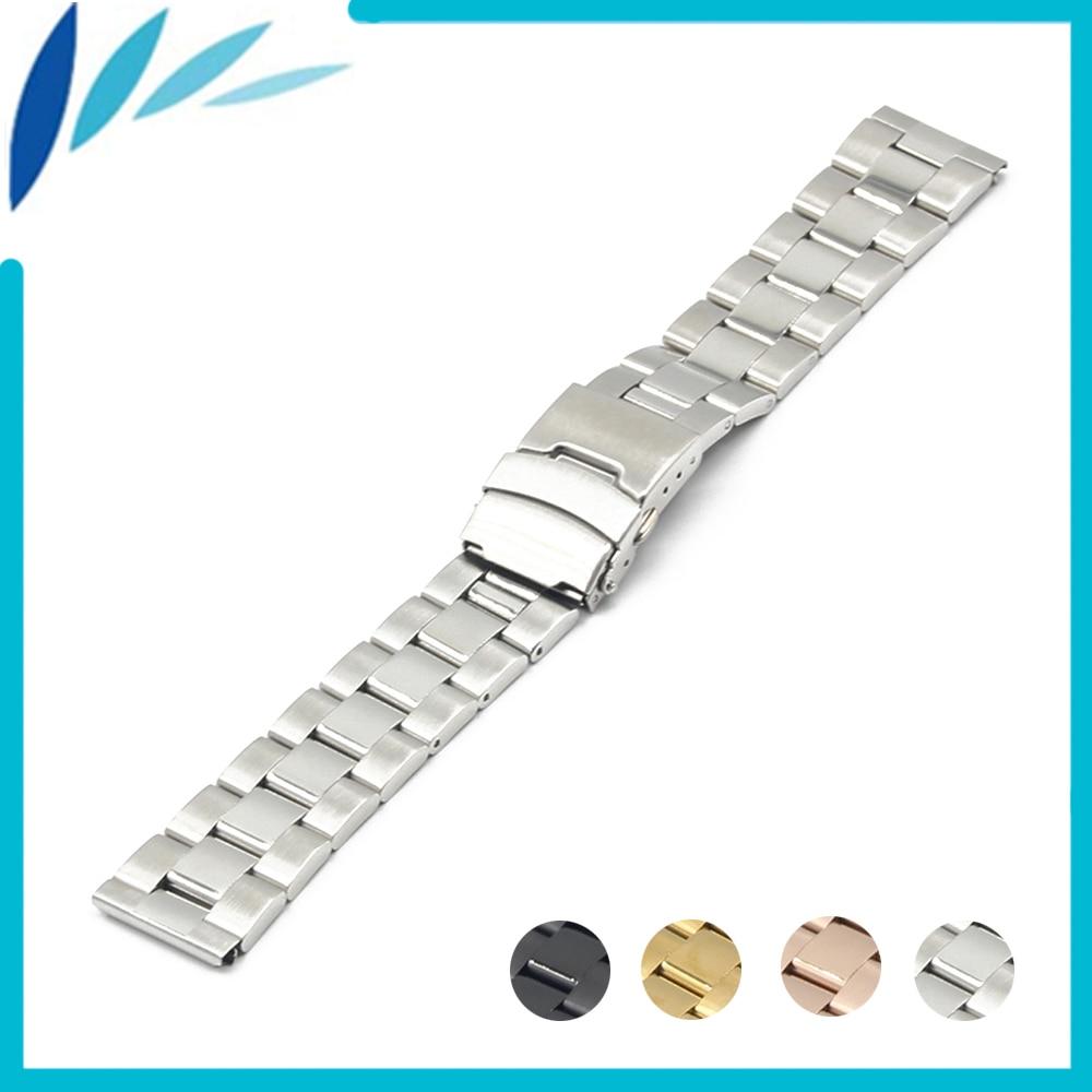 Stainless Steel Watch Band 18mm 20mm 22mm 24mm for Casio BEM 302 307 501 506 517 EF MTP Safety Clasp Strap Loop Belt Bracelet часы casio bem 501l 506l 307 302 ef 503 efr 517 20mm