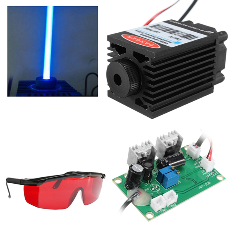 High power 2.5W Blue Light Module Diode for Laser CNC Engraving Machine 450nm Focus Power Supply Laser Tube Carving free Goggles 1000mw 450nm focusing blue laser module engraving ttl module 1w laser tube laser diode module