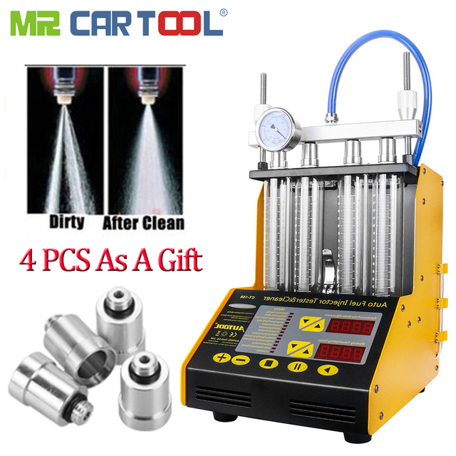AUTOOL CT150 Car Fuel Injector Clean Machine Testers 2 IN 1 Common Rail  Injectors Tester 4 Pcs Cars Connector As A Gift