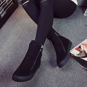Image 5 - Women Boots Winter Plush Warm Ankle Snow with Zippers Ladies Fur Platform Shoes Comfort Thick Sold Black Botas Mujer