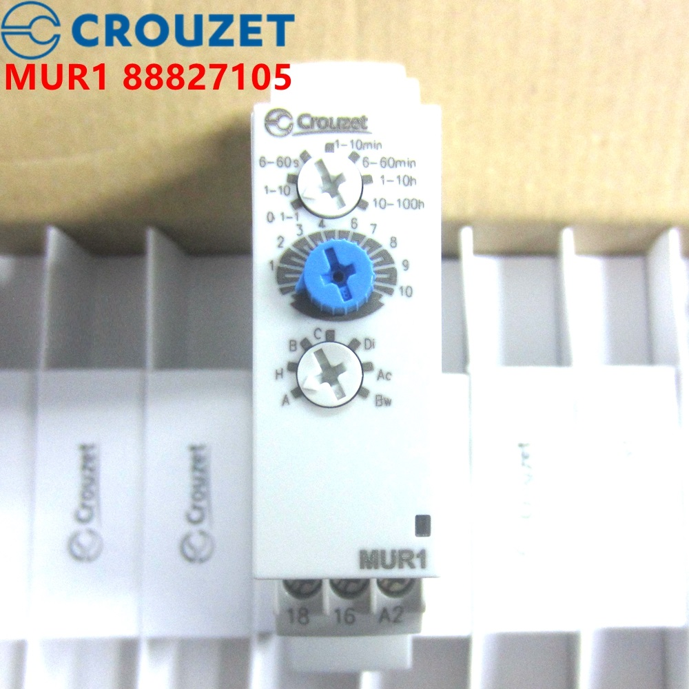 CROUZET TIME RELAY MUR1 88827105 24VDC 24-240VAC Brand new and original relayCROUZET TIME RELAY MUR1 88827105 24VDC 24-240VAC Brand new and original relay