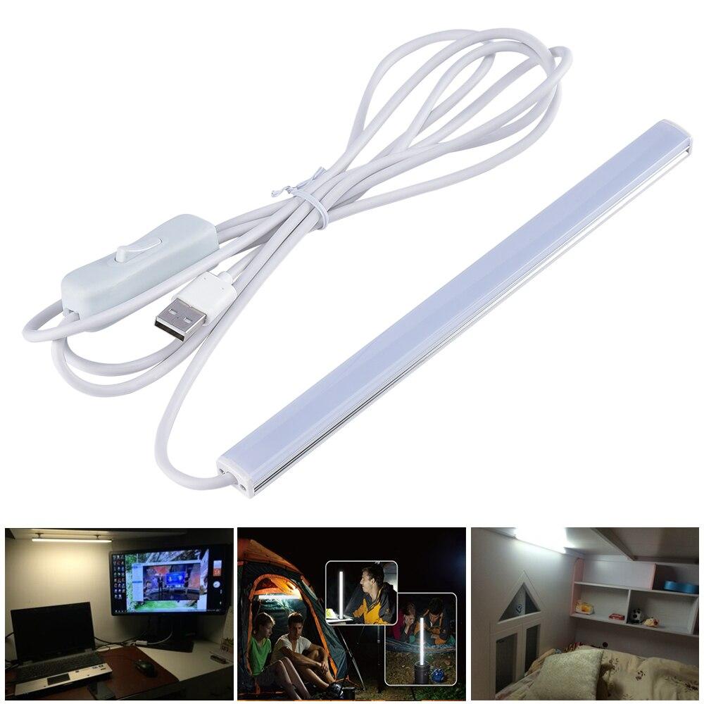 30/55CM 6W USB LED Table Lamp Portable Night Light 2835 Beside Reading Book Work Desk Lamp 5V LED Rigid Strip Bar Light usb charging portable adjustable eye protection led night light