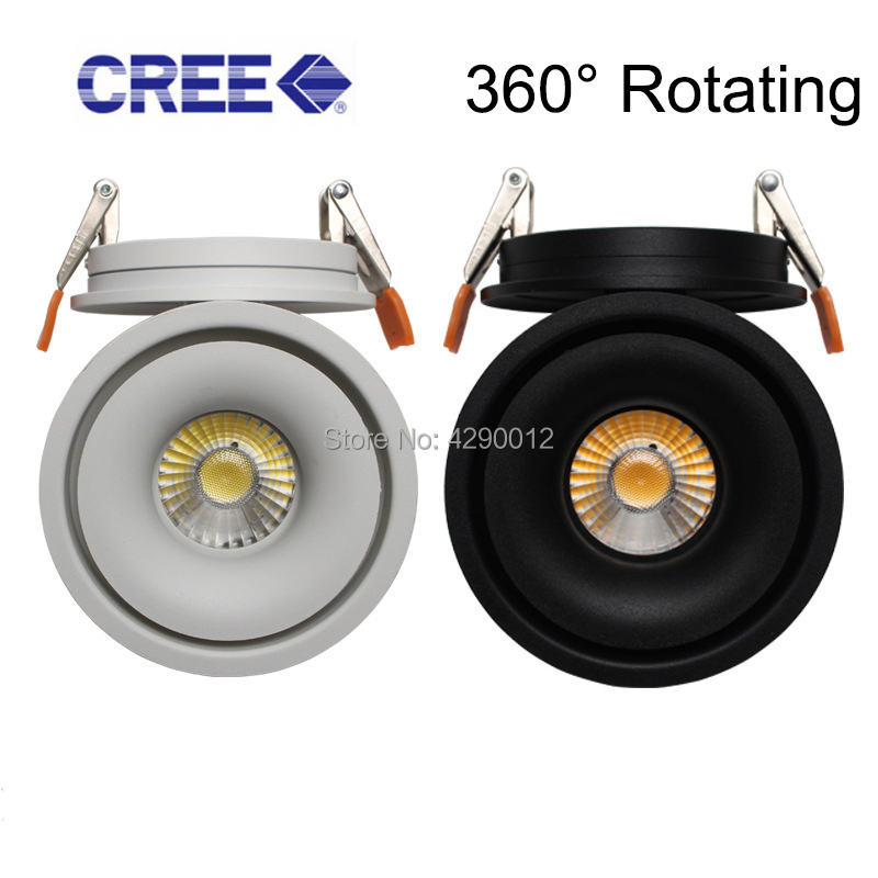 LED Downlight Recessed Ceiling lamp 5W 7W 10W 360 degree rotating LED Ceiling Lamp Spot Light Downlight AC85 265V
