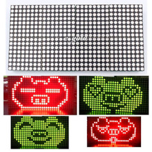 16×32 Dot Matrix Control Display Module DIY Kit Dual-Color Red Green Electronic Fun Kit