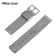 Stainless Steel Watch Band 22mm for Samsung Gear S3 Classic / Frontier Pin Buckle Strap Wrist Belt Bracelet Black Silver + Tool