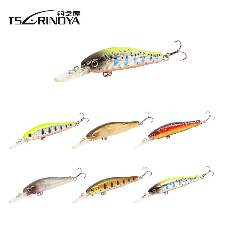 TSURINOYA Magnet Minnow Bait 65mm 5.5g Suspending Fishing Lure Isca Artificial Pesca Leurre Dur Jerkbait Wobblers Fishing Tackle 30pcs set fishing lure kit hard spoon metal frog minnow jig head fishing artificial baits tackle accessories