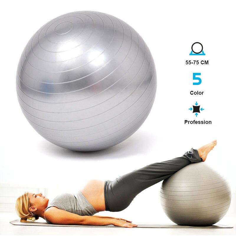 Pregnant Woman Yoga Balls Bola Pilates Fitness Gym Balance Fitball Exercise Pilates Workout Massage Ball Professional 55-75cm