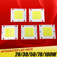 High Power Epistar COB LED Chip 20W 30W 50W 70W 100W DC 30V-32V Integrated SMD For Floodlight Spotlight Warm White /White