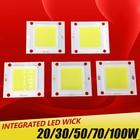 High Power Epistar COB LED Chip 20W 30W 50W 70W 100W DC 30V-32V Integrated SMD For Floodlight Spotlight Warm White /White