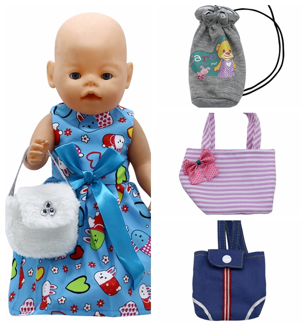 Doll Accessories 4 Colors Bag Backpack for 43cm Baby Born Zapf Doll and American Girl Doll Birthday Gift B-3 skyland skyland born b 410 4