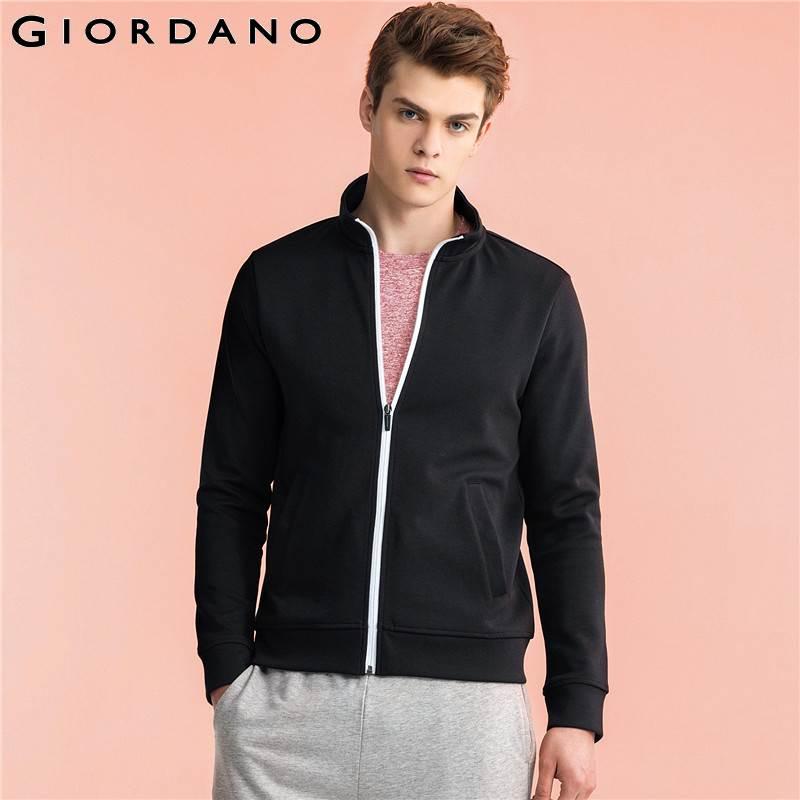 Giordano Men Sweatshirt Mock Neck Outerwear Long Sleeves Sweatshirt Ropa Hombre 2017 Brand Clothing Moleton Masculino