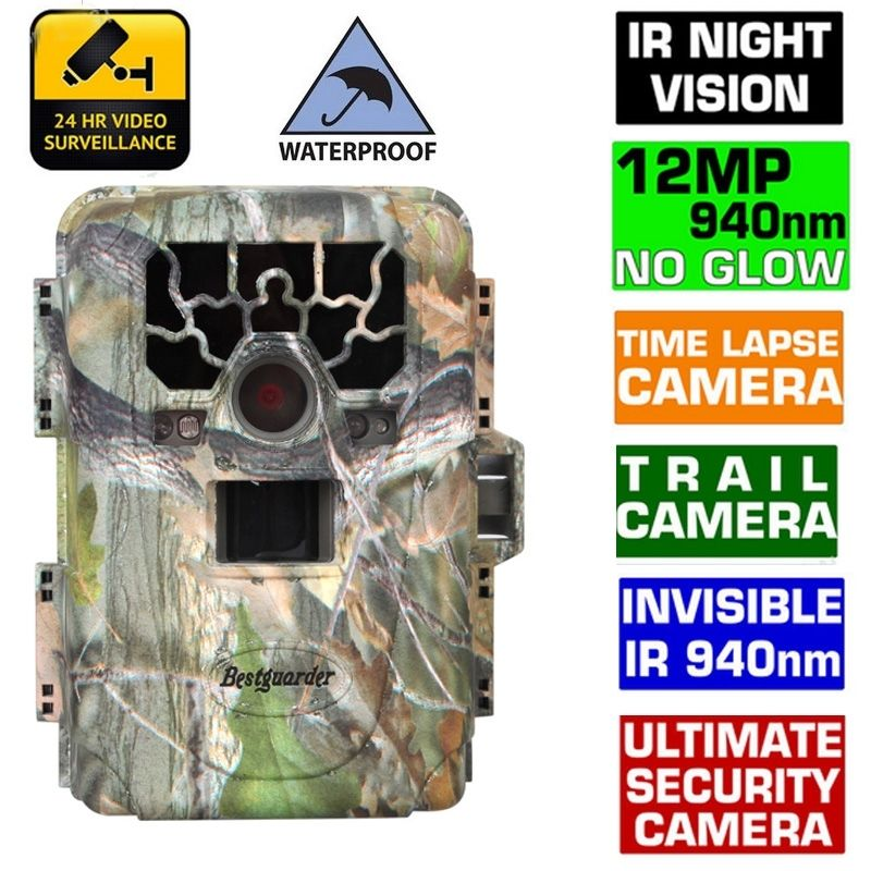 Bestguarder Original SG-880V 1080P No Glow 12MP 940NM Mini Infrared IR Digital Trail Game Scouting Hunting Camera bestguarder sy 007 360 degree wireless hunting trail
