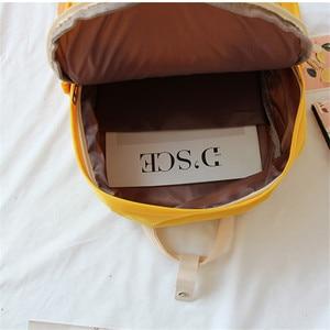 Image 5 - Mochila Ulzzang de Corea del Sur, bolso suave Ins para mujer, estudiante, Harajuku japonés, pequeña, color morado