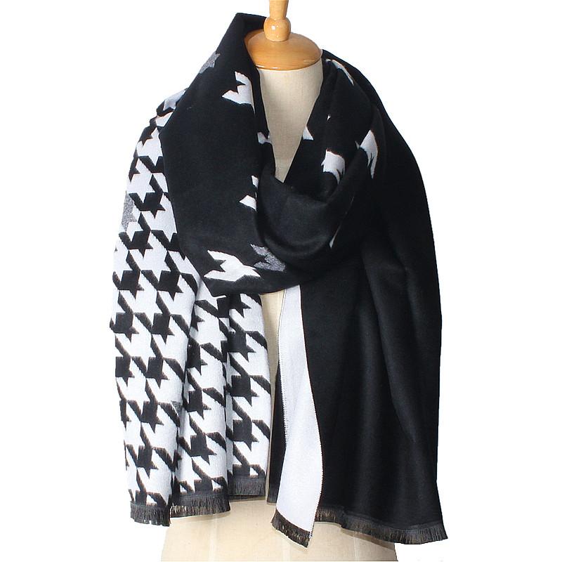 Houndstooth Reversible Scarf | Blanket Scarves