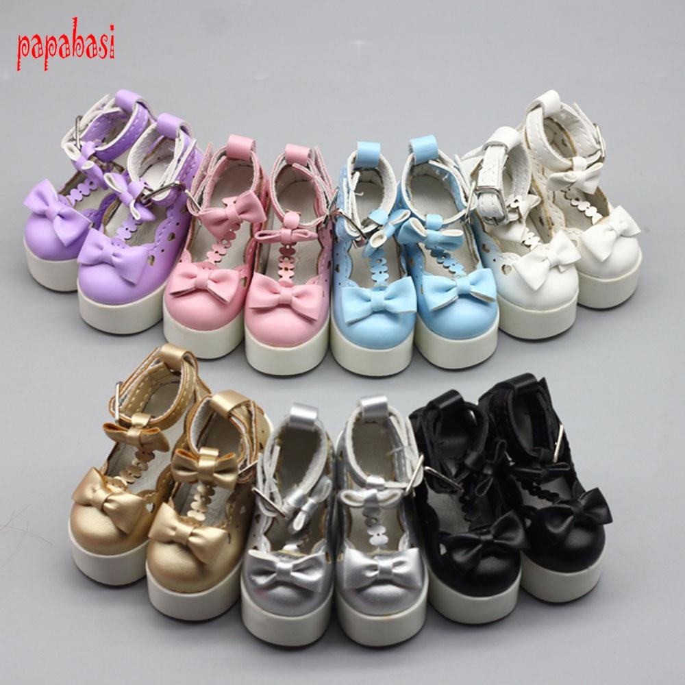 1 Pair7.8cm Princess Shoes For 60cm 1/3 BJD SD 60cm Dolls High Heels Shoes Girls Bow Dolls Sandals Toys
