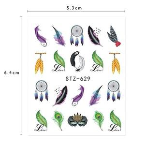 Image 5 - 1Pcs Wit Zwart Nail Stickers Water Transfer Decals Decoratie Droom Cather Slider Voor Nail Diy Tips LASTZ634 658