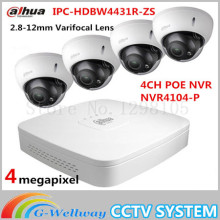 2016 Dahua HDBW4431R-ZS IP Dome Camera POE 2.8-12mm Varifocal Lens Auto Focus 4CH NVR4104-P Indoor Outdoor