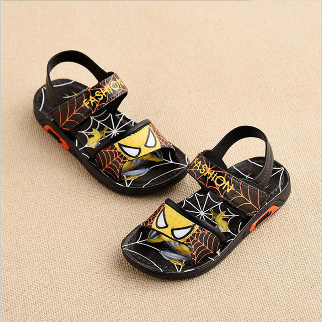 Children Shoes Boys Sandals 2019 New Summer Kids Beach Shoes Cartoon Boys Shoes Spiderman Baby Sandals Toddler Kids Sandals 4