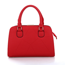 Famous Brand Designer Fashion Women Shoulder Bag Embossing Ladies Red PU Leather Solid Handbag For Woman