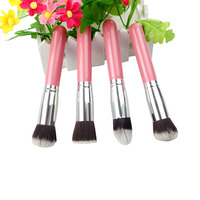4 Pcs Soft Makeup Brushes Kits Set High Quality Women Cosmetics Powder Colorful Professional Makeup Brush