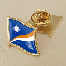 Marshal Islands Single Flag Lapel Pins(China)