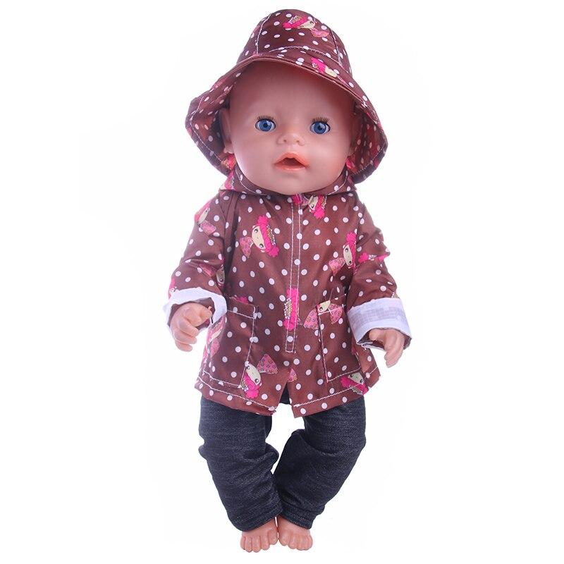 New raincoats three sets of suit wear fit 43cm Baby Born zaps, Children best Birthday Gift(Hat+jacket+pants) недорго, оригинальная цена