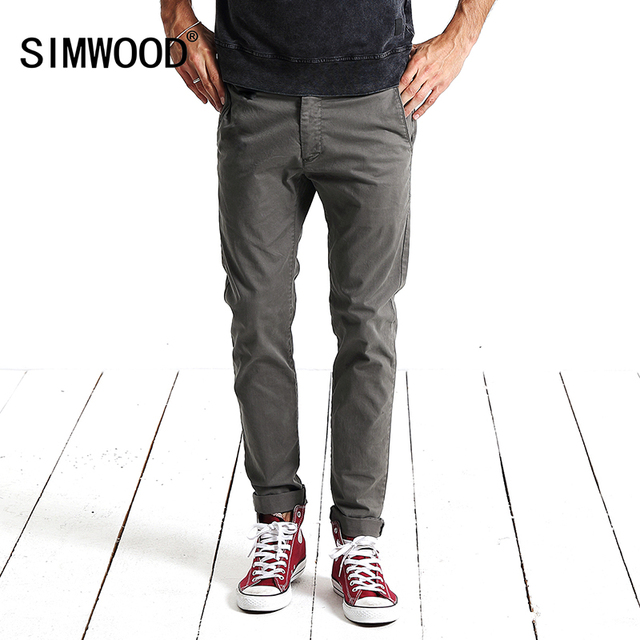 443f373544263 SIMWOOD 2018 Spring New Casual Pants Men Fashion Trousers Slim Fit High  Quality Plus Size Brand Clothing KX5536