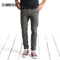 SIMWOOD 2017 Spring New Casual Pants Men Fashion Trousers Slim Fit High Quality KX5536