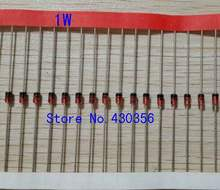 Diodo zener de 1w com 100 peças, diodo de 1w para 35 1n4728a 3v3 1n4727a 3v0 1n4733a 5v1 atrasado 4v7 «4v3» 3v9 1n4729a 3v6