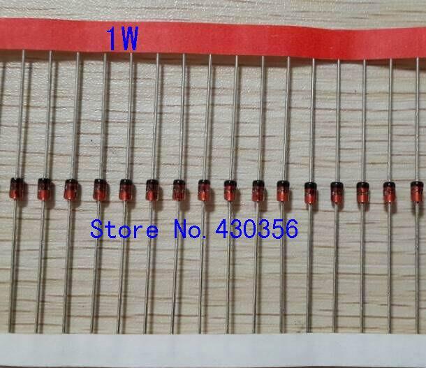 50pcs 1W Zener diode DO-35 1N4728A 3V3 1N4727A 3V0 1N4733A 5V1 1N4732A 4V7 1N4731A 4V3 1N4730A 3V9 1N4729A 3V6