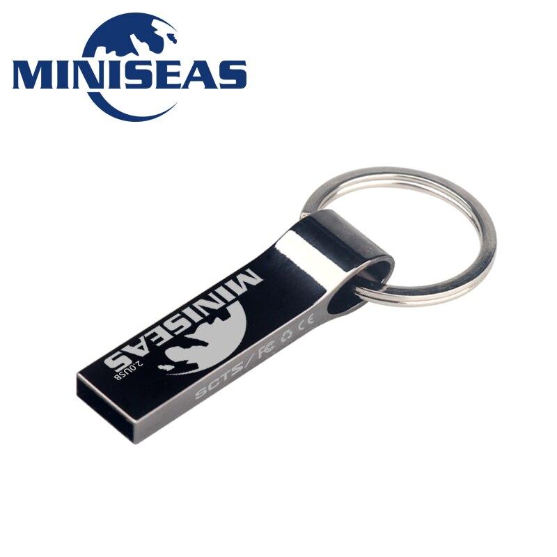 Miniseas metal usb flash drive 4gb 8gb pen drive 16gb flash drives 32gb usb memory stick 64gb usb flash drive key chain pendrive