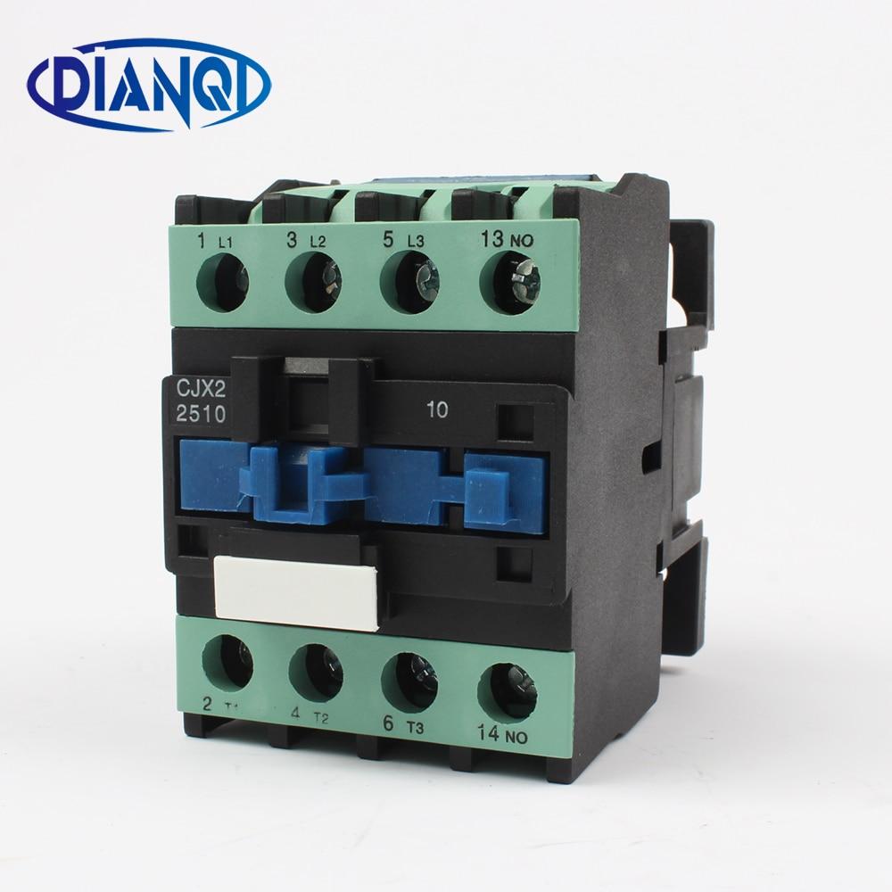 цена на CJX2-2510 LC1 2510 ac contactor 24V 36V 110V 220V 380V AC 25A 50HZ/60HZ orginal lc1 2510 36v