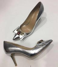 Fashion women Bow pointed toe high heeled pumps OL dress shoes EU35-41 size BY675
