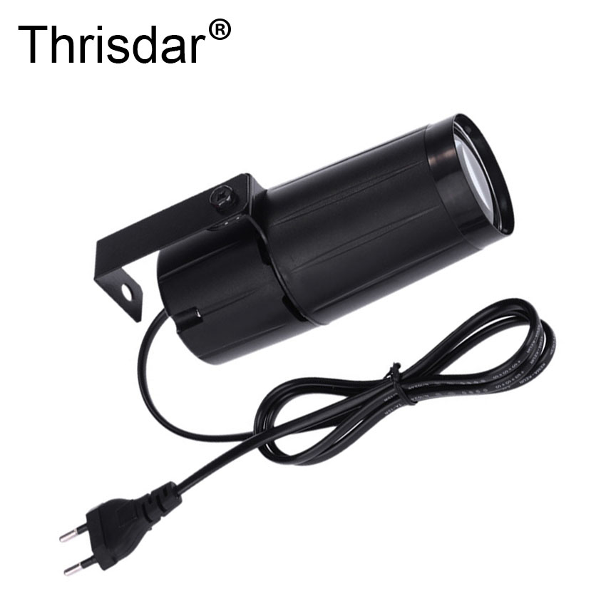 Thrisdar 5PCS Mini LED Bean Pinspot Spotlight Effect Stage Light 5W DJ Disco Party Pinspot Lamp