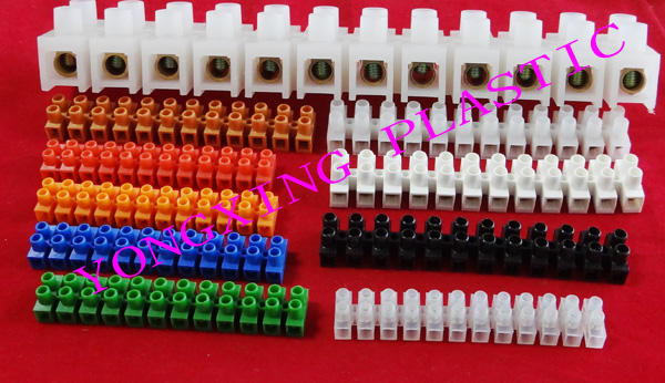 10piece/lot 10A 12 Position PE material terminal block wire connector 10MM square white