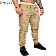 E-BAIHUI Men Pants New Fashion Tooling pockets Joggers Male Trousers Casual Mens Solid Sweatpants CG004