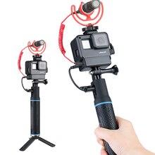 El taşınabilir şarj cihazı bataryası El Kavrama Uzatma Monopod w ULANZI V2 Konut Case GoPro Hero 7 6 5 DJI Osmo Eylem