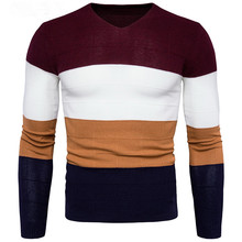 YFFUSHI 2017 Winter Men Sweater Red Khaki Navy Multicolor O-Neck Sweater Long Sleeve Casual Style Slim Fit Fashion