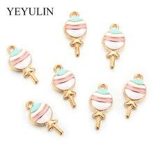 10 Pcs Kawaii Lollipops Charms Pendants For DIY Decoration Bracelets Necklace Earring Key Chain Jewelry Making