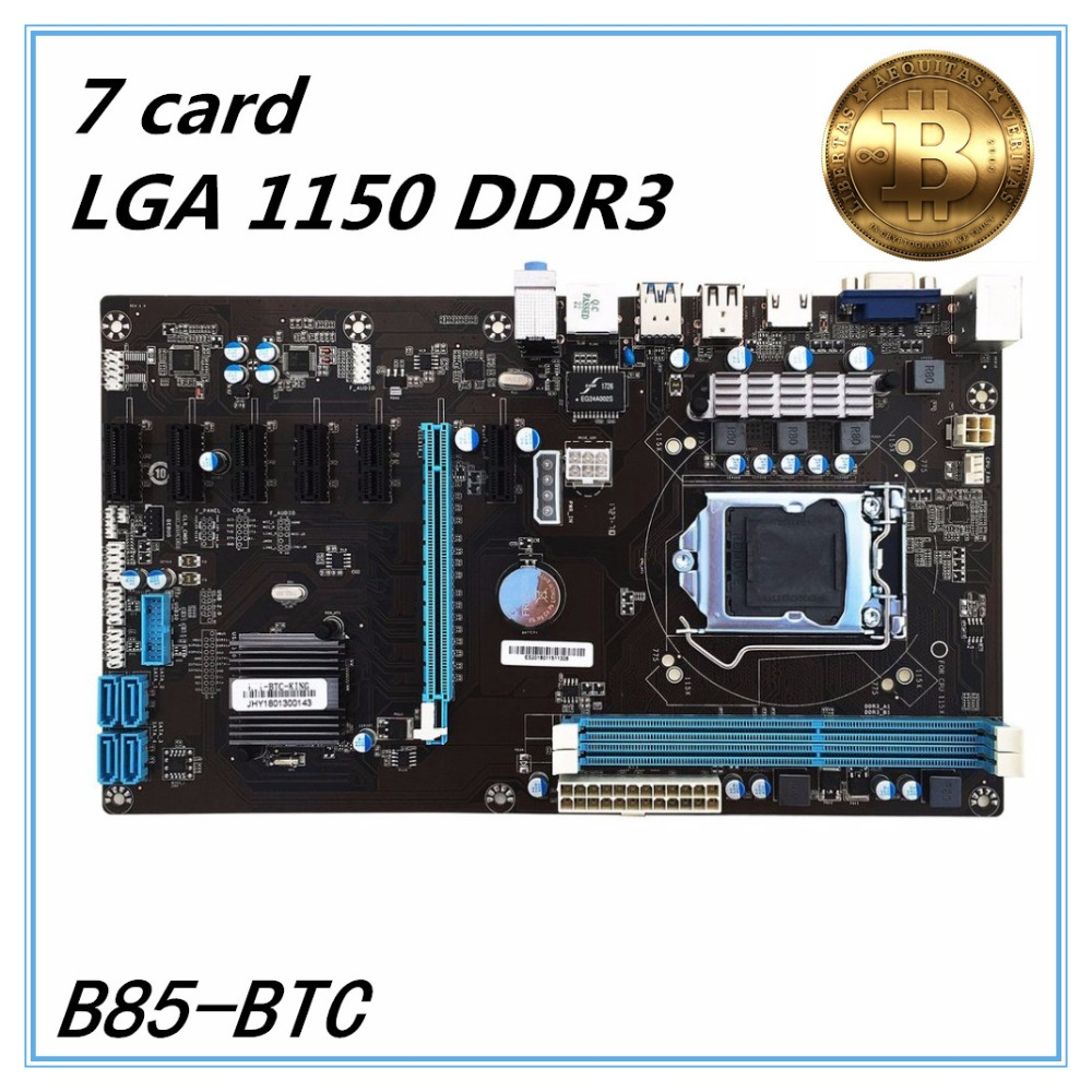 new desktop motherboard Bitcoin Mining Motherboard B85-BTC LGA 1150 DDR3 7 card PCI-E USB3.0 UB2.0 yihua 852 brushless fan hot air heat gun soldering station with soldering station