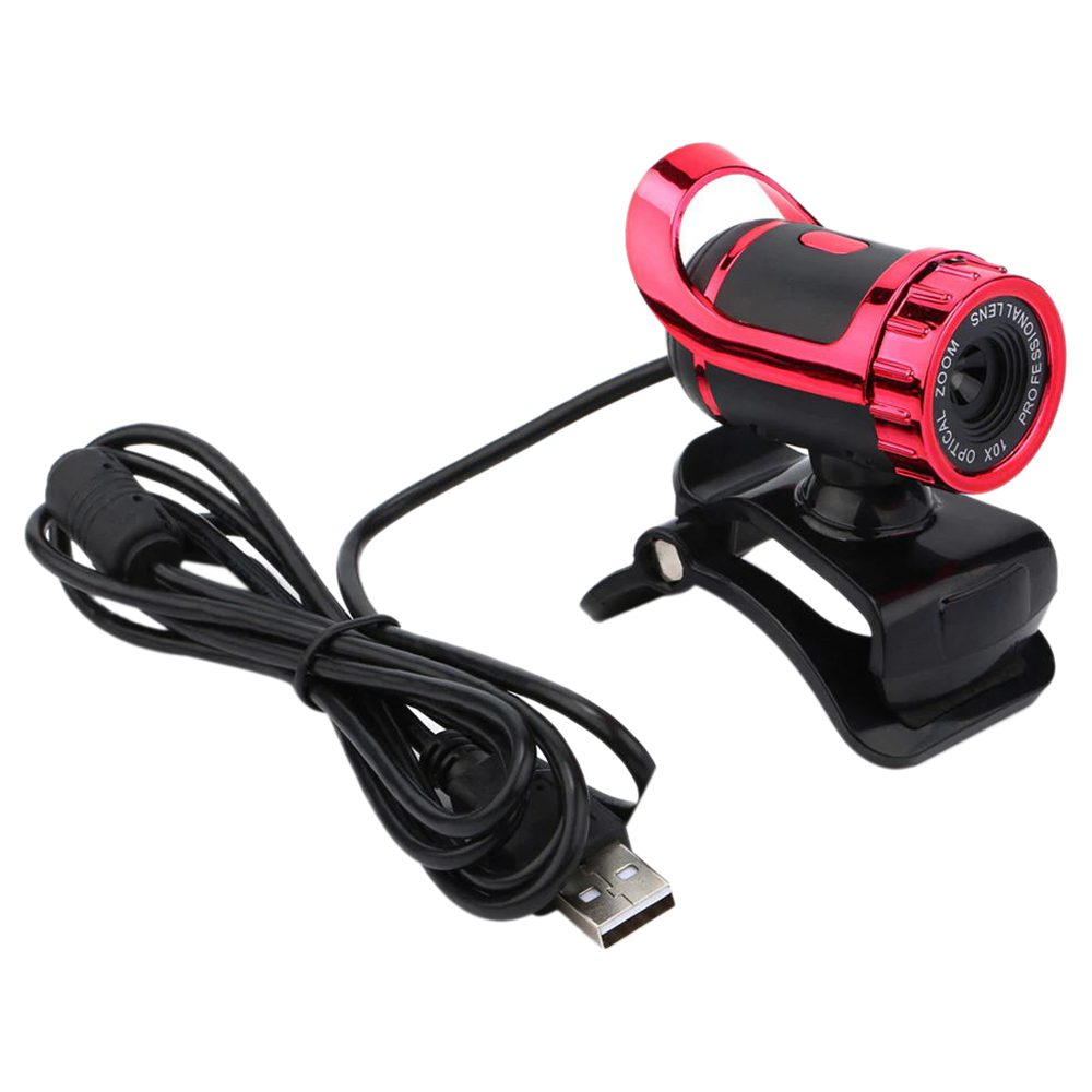 USB 2.0 360 Degree Webcam Web Camera HD 50MP with MIC Clip-on for Computer PC Laptops