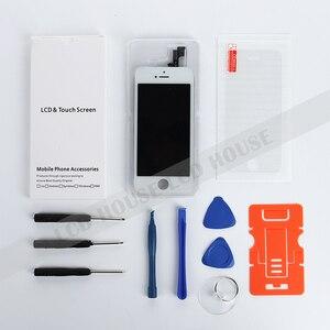 Image 4 - LCD Conjunto completo para o iphone 7G 7 Plus LCD Display Touch Screen Digitador Assembléia Completa Substituição Câmera Frontal Não botão Home