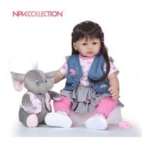 NPKCOLLECTION 58 см силикона Reborn Baby Doll Дети Playmate подарок для девочек Baby Alive мягкие игрушки для Bebe Reborn Brinquedo