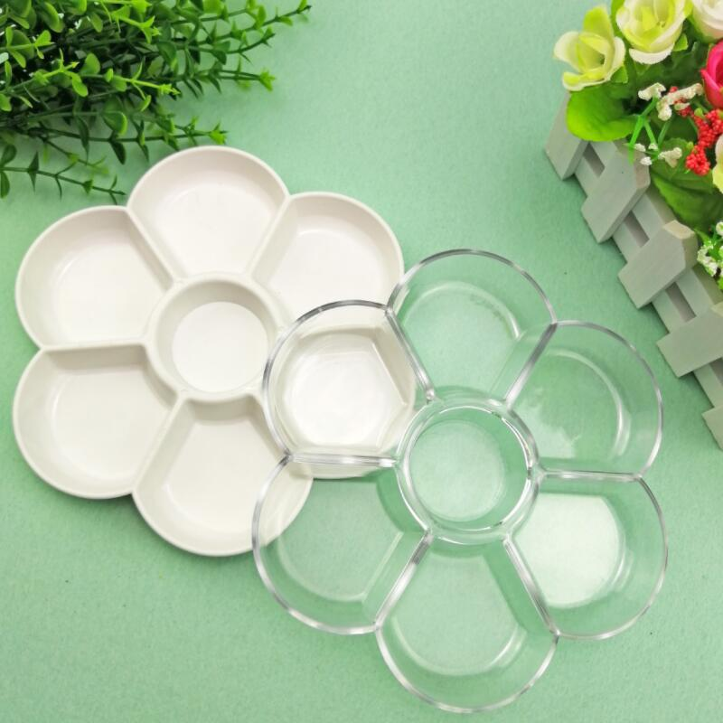 Holes Imitation Porcelain Watercolor Palette Art Paint Drawing Tray Color Palette For Oil Painting Pallet Office Supply