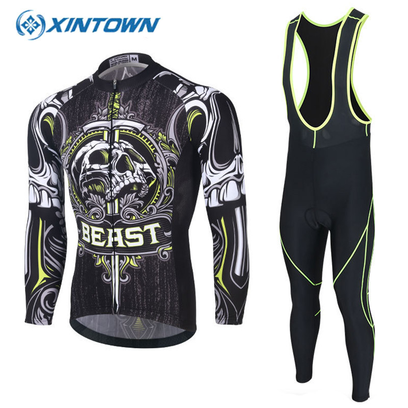 XINTOWN Men Long Sleeve Cycling Jersey Sets Spring Bicycle Clothing Breathable Bike Clothes Trajes De Ciclismo Ropa Ciclista xintown new 2018 spring cycling jersey set long sleeve 3d gel padded sets bike clothing mtb protective wear cycling clothes sets