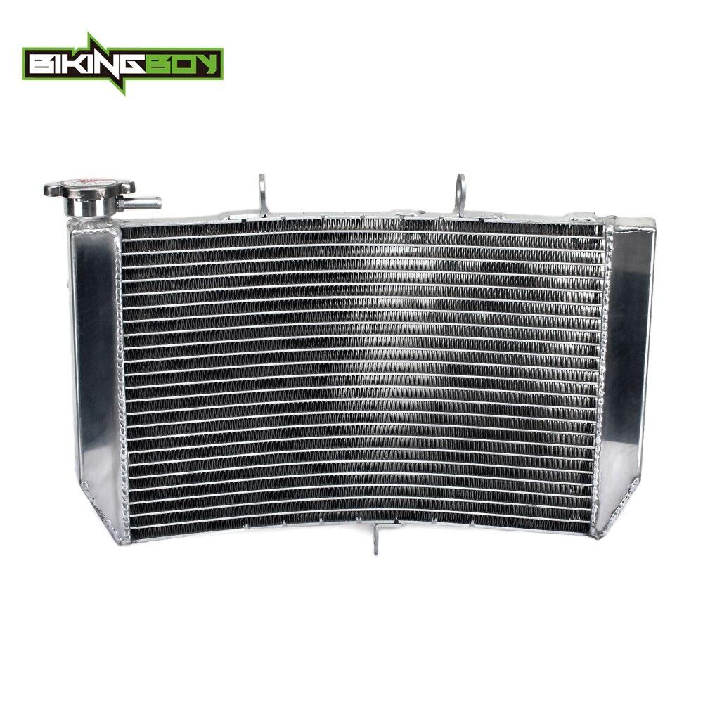 BIKINGBOY Street Bike Motorcycle Aluminum Alloy Cores Engine Water Cooling Radiator Radiators For Honda CBR 600