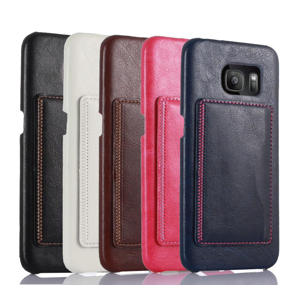 promo code 95f75 c5a53 US $3.9  Card slot support design fashion leather case for Samsung Galaxy  S7 Edge high end durable 5 colors back cover on Aliexpress.com   Alibaba ...