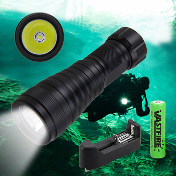 1000Lm XM-L L2 LED Waterproof Diving Flashlight Torch Underwater 100M LED Lamp & 18650 Battery+ Charger