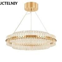 new arrival glass chandelier lighting modern chrome gold living room dinning room chandelier coffee room light 85 265v